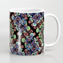 Colorful Stylized Floral Collage Coffee Mug
