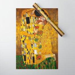 The Kiss Painting Gustav Klimt Wrapping Paper