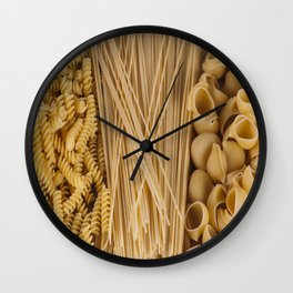 Different kind of pasta Wall Clock