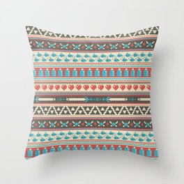 Fair-Hyle Knit Throw Pillow