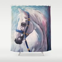horse Shower Curtains featuring Horse by Slaveika Aladjova