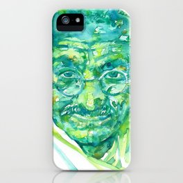 MAHATMA GANDHI portrait iPhone Case