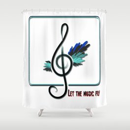 Let the music fly Shower Curtain