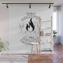 Marshmallows on a Campfire Wall Mural