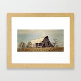 abandoned history . Framed Art Print