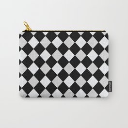 Harlequin Black and White and Gray Carry-All Pouch