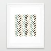 scales Framed Art Prints featuring Scales by Zen and Chic