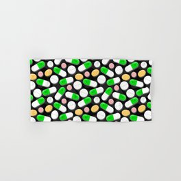 Deadly Pills Pattern Hand & Bath Towel