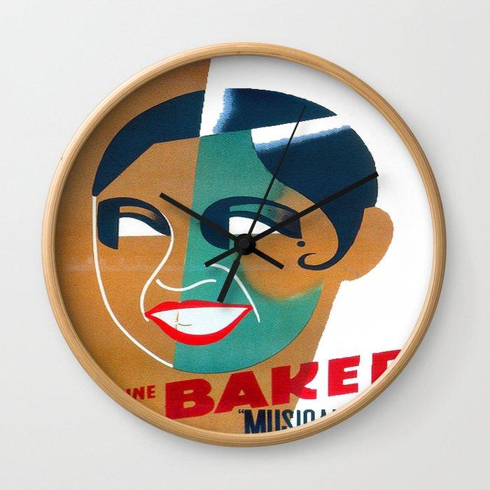Josephine Baker Vintage Poster for Stockholm Wall Clock