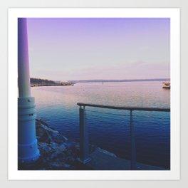 Purple Harbor  Art Print