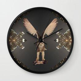 The Snowy Owl's Civic Duty Wall Clock