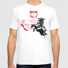 Polish Hussar - Poland - Polska Husaria Mens Fitted Tee White MEDIUM