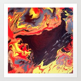 Burning Within Art Print