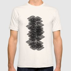 Feathered spine Mens Fitted Tee SMALL Natural