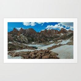 Twin Lakes Art Print