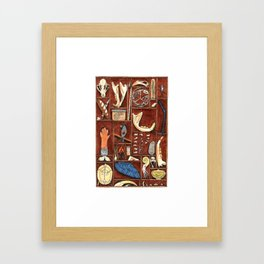 Curious Cabinet Framed Art Print