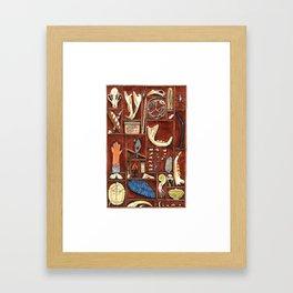 Curious Cabinet Framed Art Print