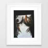 erotic Framed Art Prints featuring Erotic by Monika Iatrou