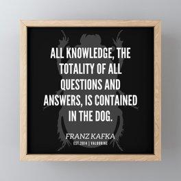 87  |  Franz Kafka Quotes | 190517 Framed Mini Art Print