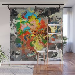 Embers and Smoke Wall Mural