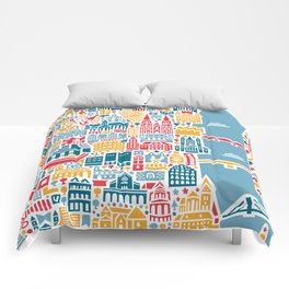 Cologne City Map Poster Comforters