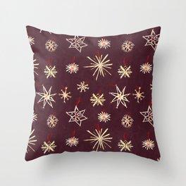 Straw Stars Throw Pillow