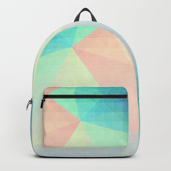Pastel Candy Geometry Backpack