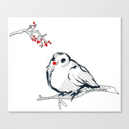 Rudolph The Red Nose Birdy Canvas Print