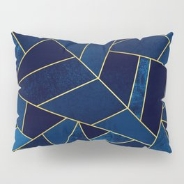 Blue stone with yellow lines Pillow Sham