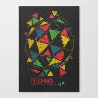 deadmau5 Canvas Prints featuring Techno by Sitchko Igor