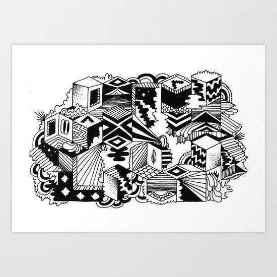 Cube-ular Art Print