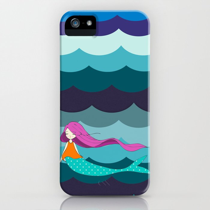 Mermaid in Blue iPhone Case