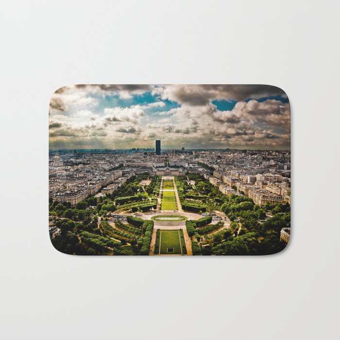 Paris from the Eiffel Tower Bath Mat