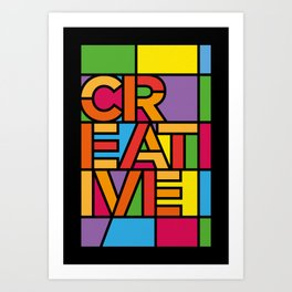 Creative - Stained Glass Art Print