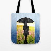 umbrella Tote Bags featuring Umbrella by Cs025