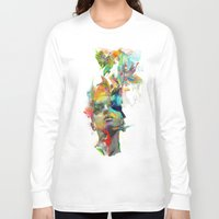 watercolor Long Sleeve T-shirts featuring Dream Theory by Archan Nair