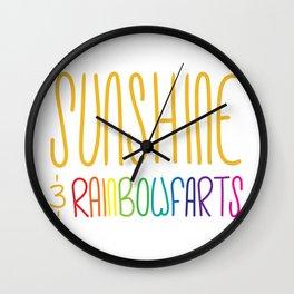 Sunshine & Rainbowfarts Wall Clock