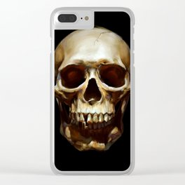 Life. Skull Painting Clear iPhone Case