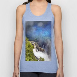 Wild waterfall in abstract Unisex Tank Top