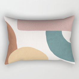 Abstract Earth 1.2 - Painted Shapes Rectangular Pillow