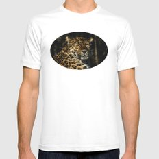 Basking in the sun MEDIUM White Mens Fitted Tee