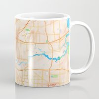 houston Mugs featuring Houston, Texas by Emily Day