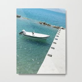 Boat In Nafplio Metal Print