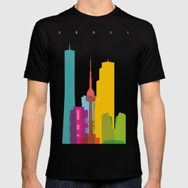 Shapes of Seoul accurate to scale T-shirt