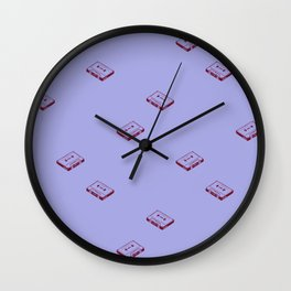 Cassette Tapes- Periwinkle Wall Clock