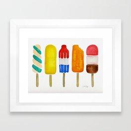 Popsicle Collection Framed Art Print