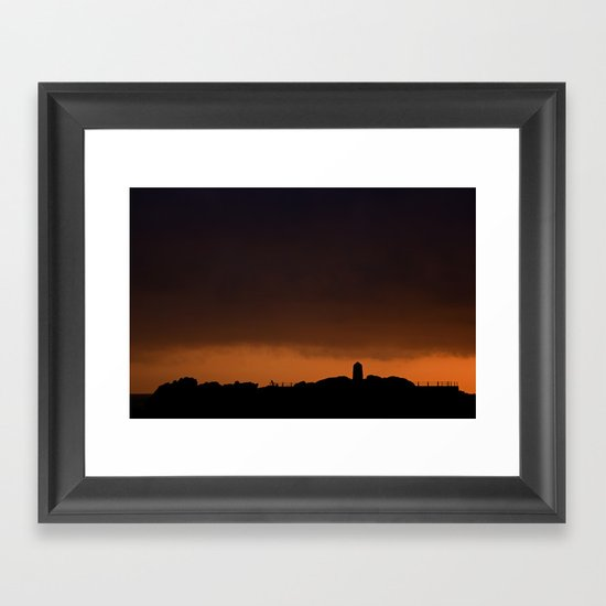 THAT'S A NICE DAY FOR FISHING (Us And Them) Framed Art Print
