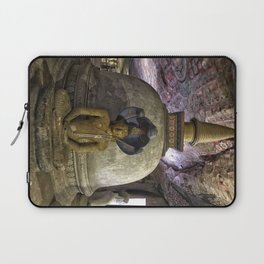 Temple within a cave Laptop Sleeve