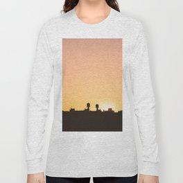New York Water Towers Sunset Long Sleeve T-shirt