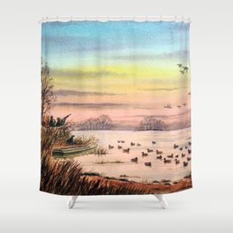 Duck Hunting With Granddad Shower Curtain